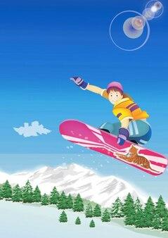 kid de snowboard