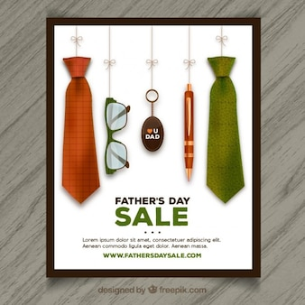 L'affiche de la vente de la fête des pères