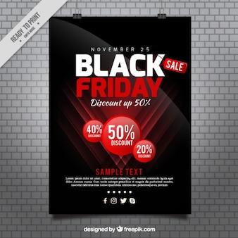 L'affiche du vendredi noir dans un style moderne