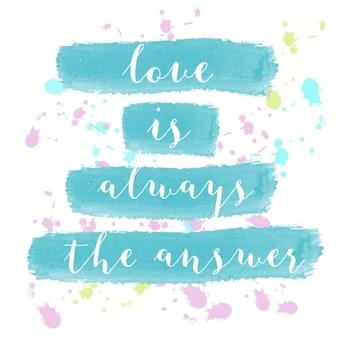 L'amour est toujours l'affiche d'aquarelle de motivation de réponse