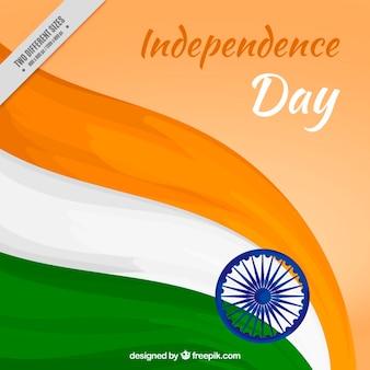 L'indépendance de drapeau indien jour fond