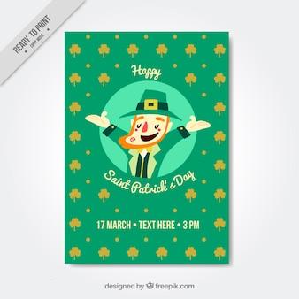 La brochure d'Elf saint patrick dans le style vintage