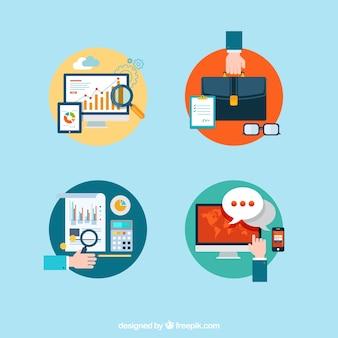 La collecte des icônes d'affaires