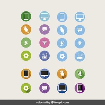 La collecte des icônes de la technologie