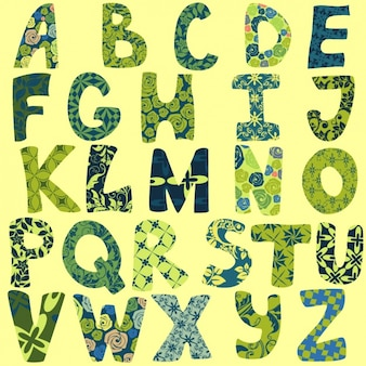 La conception de l'alphabet Floral