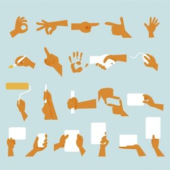 La conception des gestes de la main