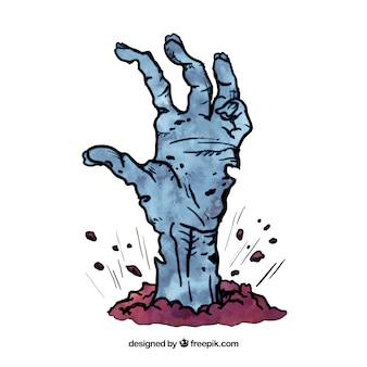La main de zombie Morte
