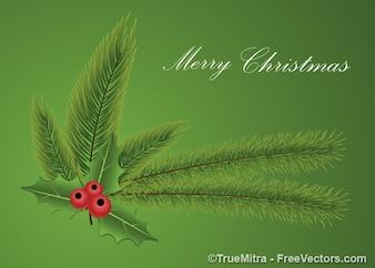 Laisse gui de Noël carte verte