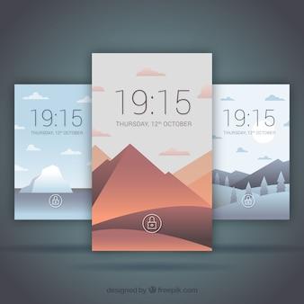 Landscape mobile background