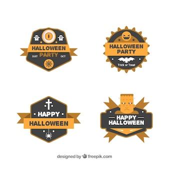 Large variété d'étiquettes plates d'Halloween