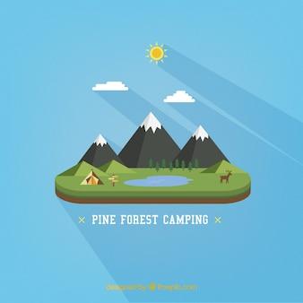 le camping de la forêt