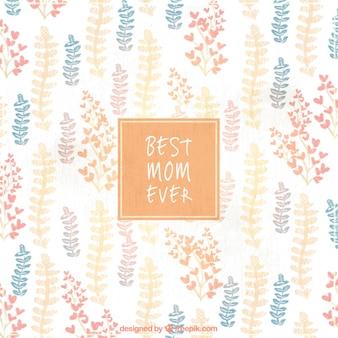 Le fond de la fête des mères avec des fleurs mignonnes