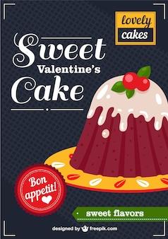 Le gâteau de valentine vecteur