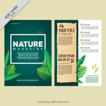 Le magazine Eco avec des feuilles de la jungle