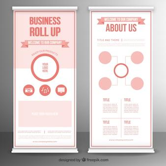 Le modèle d'entreprise se déroule en tons rouges