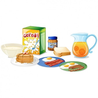 Le petit-déjeuner Cartoon