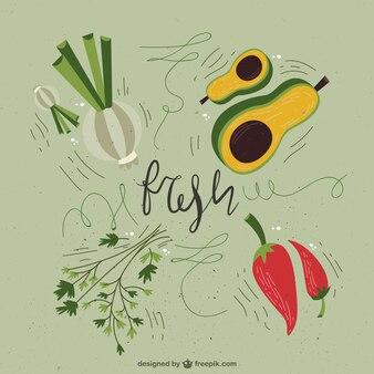 Légumes frais illustrés