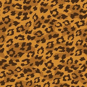 Leopard seamless background. Illustration vectorielle.