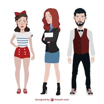 Les adolescents avec des styles différents