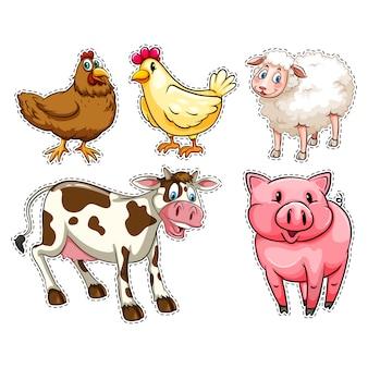 Les animaux de ferme collecti