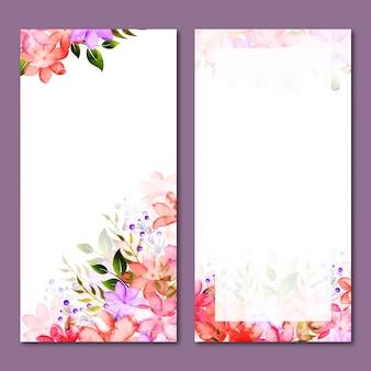 Les bannières de sites Web floraux sont définies.