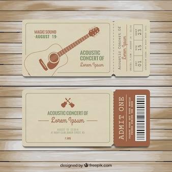 Les billets pour concert acoustique
