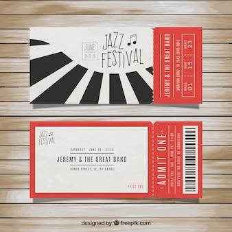 Les billets pour le festival de jazz