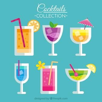 Les boissons tropicales sont préparées en plat