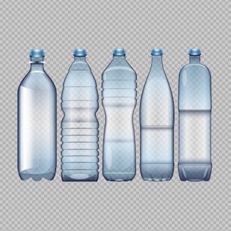 Les bouteilles d'eau différentes