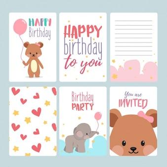 Les cartes d'anniversaire collection