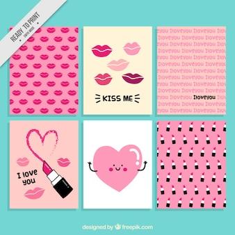 Les cartes de valentine mignon