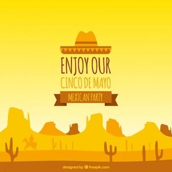 Les couleurs chaudes Cinco de Mayo fond