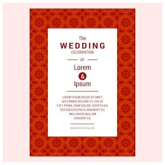 Les ensembles de conception d'invitation de mariage vintage incluent la carte d'invitation