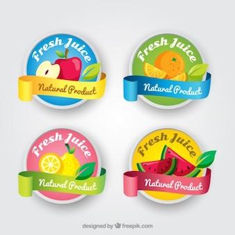 Les étiquettes de jus frais