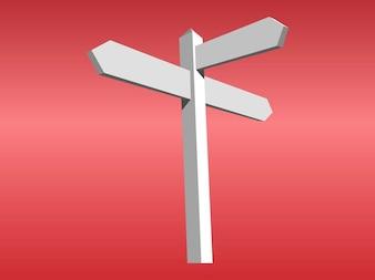 Les flèches directionnelles vierge vecteur de signes