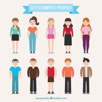 Les gens des villes
