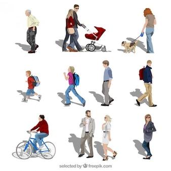 Les gens en mouvement