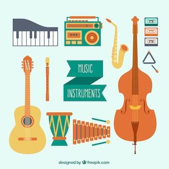 Les instruments de musique emballent
