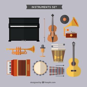 Les instruments de musique mis