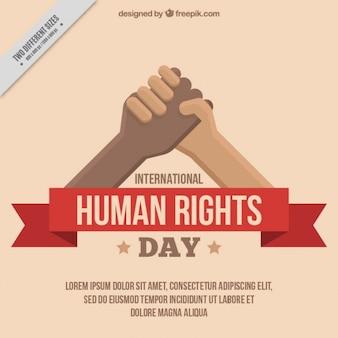 Les mains jointes, le jour des droits de l'homme