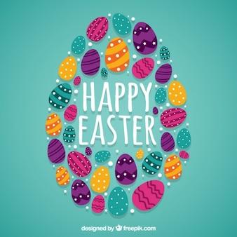 Les oeufs de Pâques fond