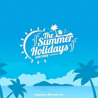Les vacances d'été fond