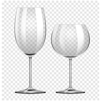 Les verres à vin mis
