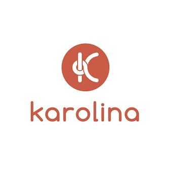 Lettre k logo design