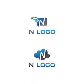 Lettre n logo désig