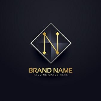 Lettre n logo modèle
