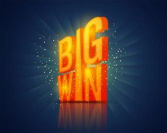 Lettres brillantes Big Win, Creative Casino background.
