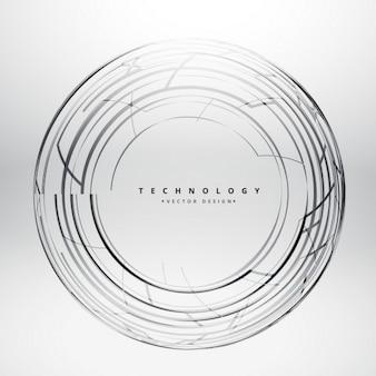 lignes sphère tchnology fond