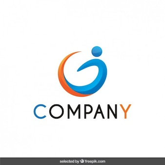 Logo avec la forme humaine abstraite