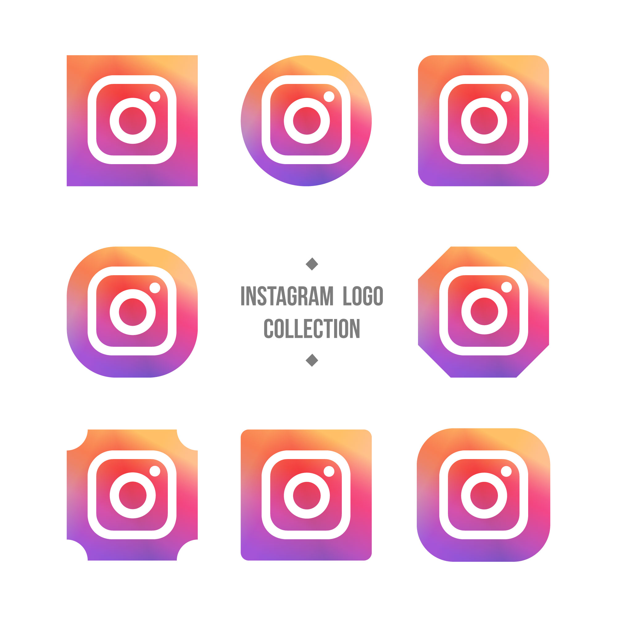 Logo collection instagram
